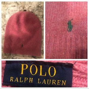 Ralph Lauren pink hat. New! 100% wool